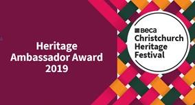 Heritage tourism award 2019